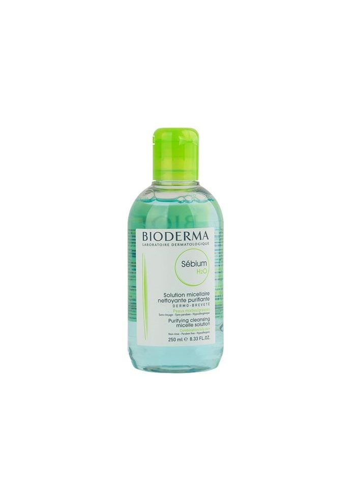 Bioderma Sebium H2O Purifying Cleansing Solution (For Combination/Oily Skin) 250ml